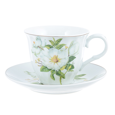 Белая роза Набор чайный 2 пр., 220мл, фарфор - 1