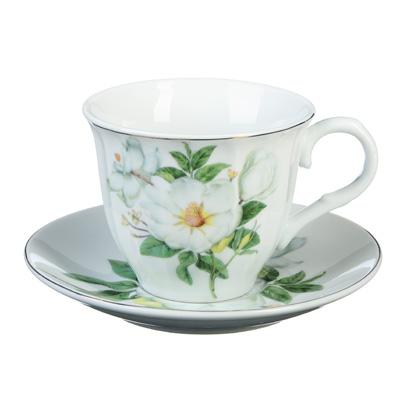 Белая роза Набор чайный 4 пр., 220мл, фарфор - 1