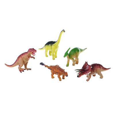 """ИГРОЛЕНД Фигурка-пазл """"Динозавр"""", коллекционная, 6-10см, в пакете,10х14х4см, пластик, 7-28 деталей - 1"""