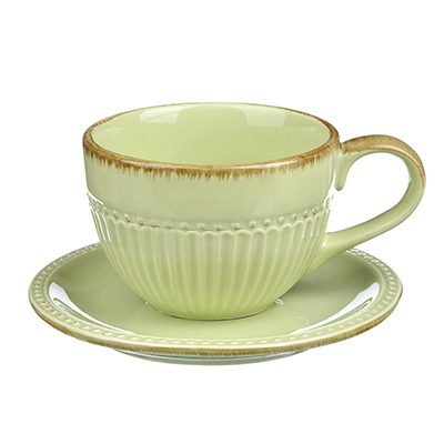 "Чайный сервиз 2 предмета, керамика, MILLIMI ""Олива"" - 1"