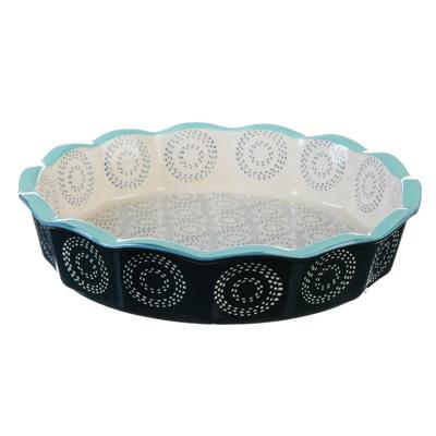 Форма для запекания MILLIMI, d. 22 см, круглая, керамика, аквамарин - 1