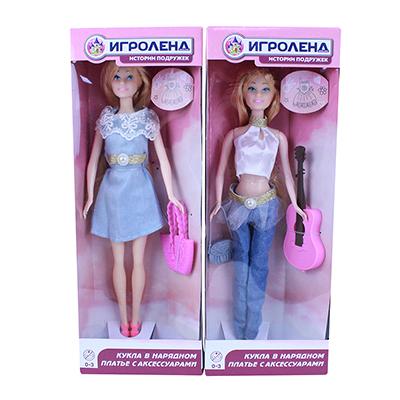 ИГРОЛЕНД Кукла с аксессуарами, 29см, пластик, полиэстер, 2 дизайна - 1