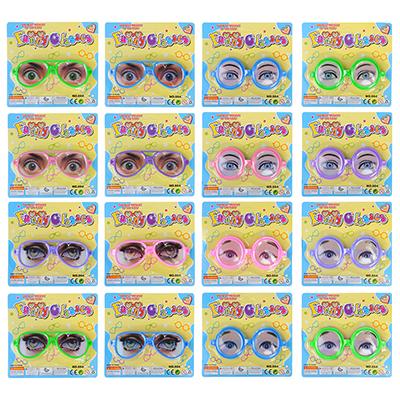 Очки-розыгрыш, пластик, 16х5х1см , 12 дизайнов - 1