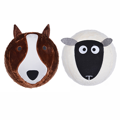 МЕШОК ПОДАРКОВ Мяч надувной пушистый в виде животного, 30см,полиэстер,резина, 30,5х30,5см, 2 дизайна - 1