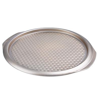 Форма для пиццы 37х35х2 см, углеродистая сталь, золотистое покрытие - 1
