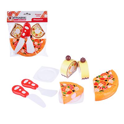 ИГРОЛЕНД Набор в виде пиццы для резки, 7пр., пластик, 17х18х5см, 6 дизайнов - 1