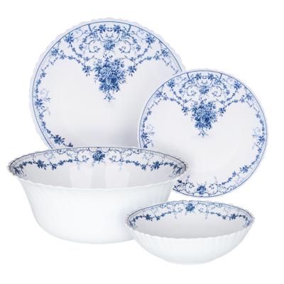 """Набор столовой посуды 19 предметов, опаловое стекло, MILLIMI """"Ариадна"""" - 1"""