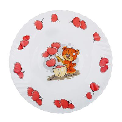 "Тарелка детская 19 см, опаловое стекло, MILLIMI ""Медвежонок"" - 1"