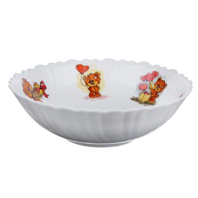 """Тарелка суповая детская 15 см, опаловое стекло, MILLIMI """"Медвежонок"""" - 1"""