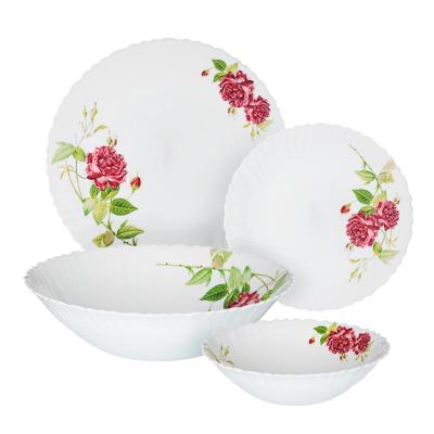 """Набор столовой посуды 13 предметов, опаловое стекло, MILLIMI """"Инесса"""" - 1"""