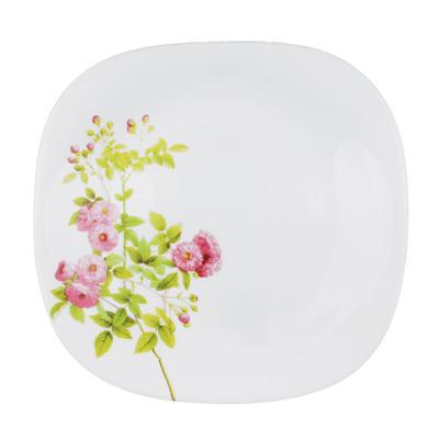 "Тарелка десертная d. 21,5 см, опаловое стекло, квадратная форма, MILLIMI ""Верона"" - 1"