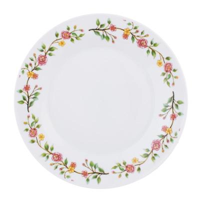 """Тарелка десертная фарфоровая, 19 см, """"Розовый венок"""" - 1"""