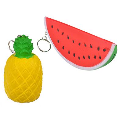 Игрушка-мялка арбуз/ананас с ароматом, ПУ, 11-15 см - 1