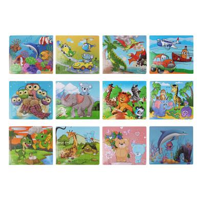 Пазл + рамка для рисования, маркер, картон, 19х17,2х0,5 см, 6-12 дизайнов - 1