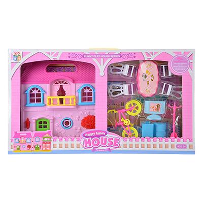 """Игровой набор """"Кукольный домик"""" с мебелью и аксесс., пластик, 39х22х6,5 см - 1"""