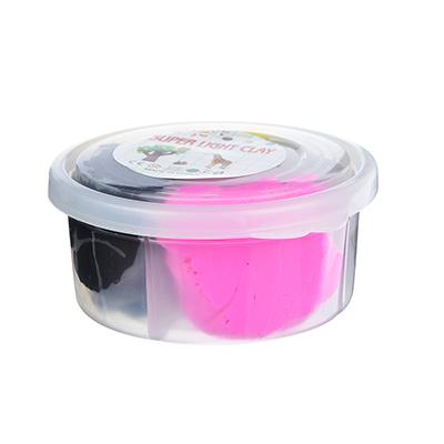 Глина застывающая легкая, в наборе 4 цвета, 50-60гр, полимер, 8х4х4см, 4-12 цветов - 1