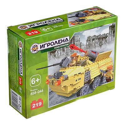 ИГРОЛЕНД Армия Конструктор машина огневой поддержки, 219дет., пластик, 20х15х6см - 1