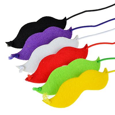 Усы накладные для праздника набор 6 шт, нетканый материал, 12,5х25см - 1