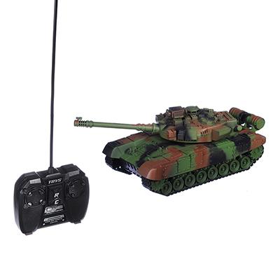 ИГРОЛЕНД Танк радиоуправляемый, движение, свет, звук, ABS, аккум в компл., 34,5х14,8х14,8см - 1