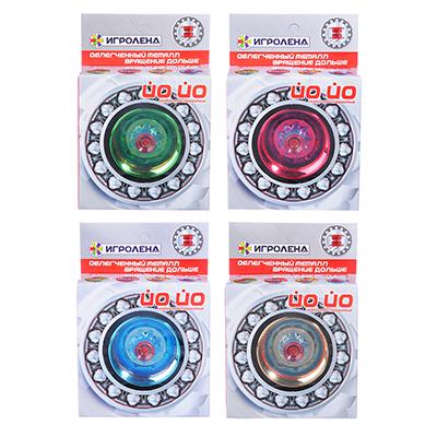 ИГРОЛЕНД Игрушка супер йо-йо, ABS, металл, 5,5х5,5х3,4см - 1
