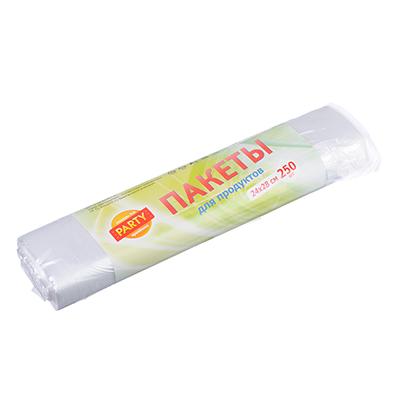 Пакеты полиэтиленовые для хранения продуктов 250 шт, 24х28 см (2л), 6 мкм пакеты для хранения продуктов юпласт 604984 37 см х 24 см 1000 шт