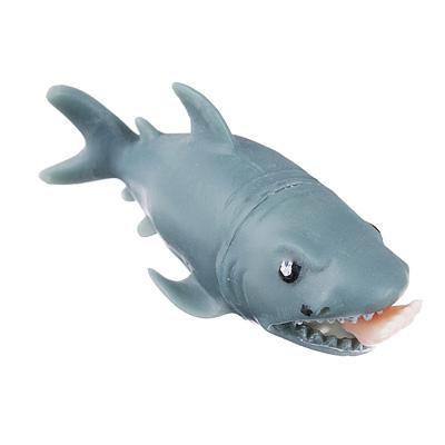 Мялка-антистресс в виде акулы с ногой в пасти, резина, 12см, 1 дизайн - 1