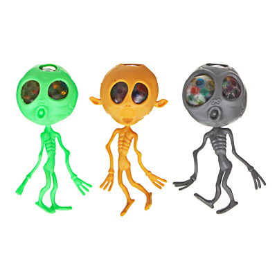 LASTIKS Мялка в виде пришельца, резина, 15см, 3 дизайна - 1