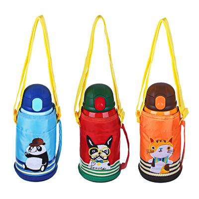 Термос детский в чехле 500 мл, пластик/сталь 3 дизайна - 1