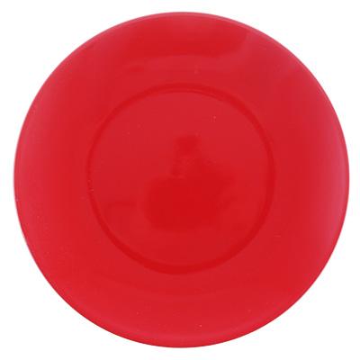 "Тарелка десертная d.20 см, керамика, красная, ""Глянец"" - 1"