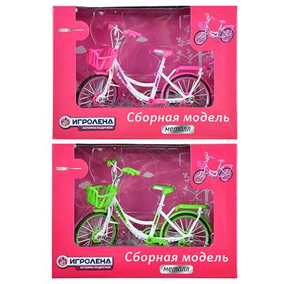 ИГРОЛЕНД Велосипед сборный, металл, 18х13х7см, 2 дизайна - 1