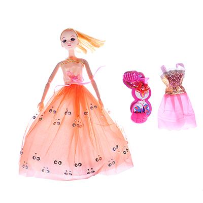 ИГРОЛЕНД Кукла шарнирная в бальном платье с аксессуарами, 30см, пластик, 21х33х4,8см - 1