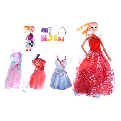 ИГРОЛЕНД Кукла шарнирн. в бальн. платье + мини-кукла и набор аксессуаров,30см,пластик,29х32х6см - 1