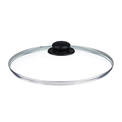 Крышка для сковороды d. 28 см, стеклянная, с металлическимободком - 1