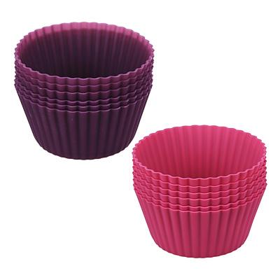 Набор форм для выпечки кексов SATOSHI Алион 6шт, 9,5x4,4см, силикон - 1