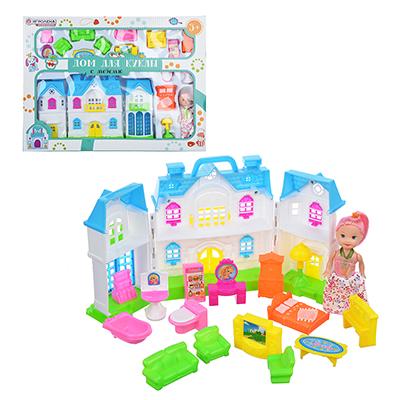 """ИГРОЛЕНД Набор """"Дом для куклы с мебелью и куклой"""", пластик, 38х28х5,2см - 1"""