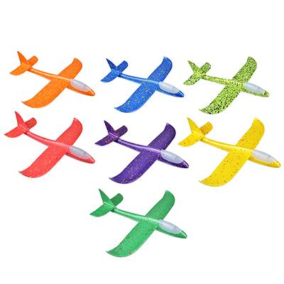 Самолет-планер, свет, полимер, 48х10х48см, 5 цветов - 1