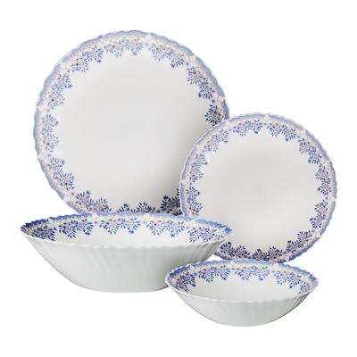 """Набор столовой посуды 19 предметов, опаловое стекло, MILLIMI """"Аполлон 2"""" - 1"""