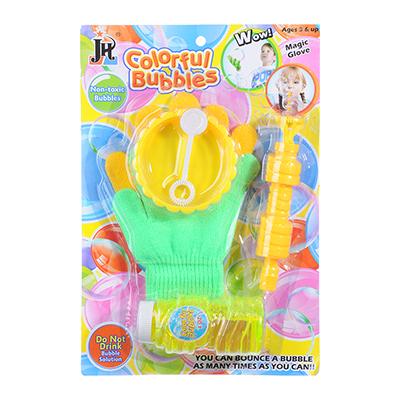 Мыльные пузыри эластичные с перчатками, 6 предм., мыльный р-р 118мл, пласт., ПЭ, 19х28х5см - 1