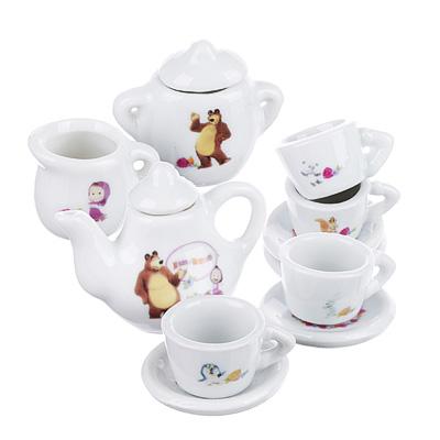 МАША И МЕДВЕДЬ Набор посуды для кукол, 11предм, керамика, 15х15х4см - 1