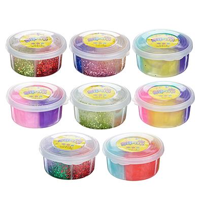 Слайм, в наборе 4 цвета, 8,5х4см, полимер, 2 дизайна, 6-8 цветов - 1
