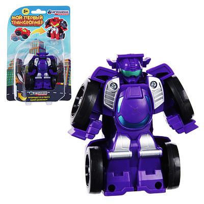 ИГРОЛЕНД Робот трансформирующийся, ABS, 7х7х4см, 6 дизайнов - 1