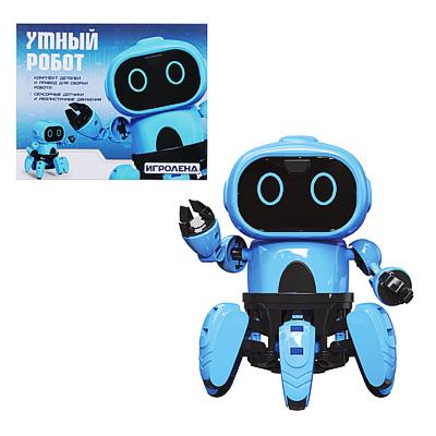 ИГРОЛЕНД Конструктор в виде робота с сенсорными датчиками, ABS, пит.4х1.5VAAA,16х12х12см - 1