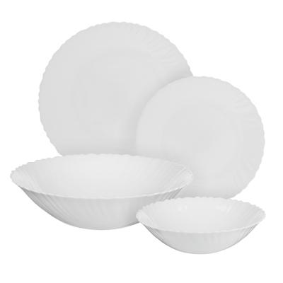 """Набор столовой посуды 19 предметов, опаловое стекло, MILLIMI """"Бьянко"""" - 1"""