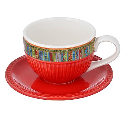 "Чайный сервиз 2 предмета, керамика, MILLIMI ""Этника"" - 1"