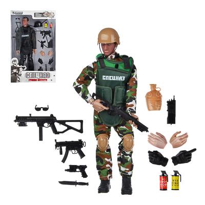 ИГРОЛЕНД Фигурка солдата шарнирная, 30см, с аксессуарами, ABS, 35х21,7х6см, 2 дизайна - 1