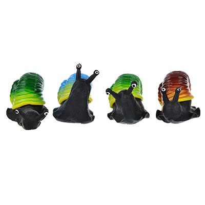 Игрушка в виде улитки с панцирем, пластик, резина, 6-8см, 2-4 цвета - 1