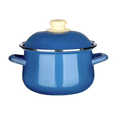 Кастрюля 2,0 л VETTA Глянец, эмалированная, синий - 1