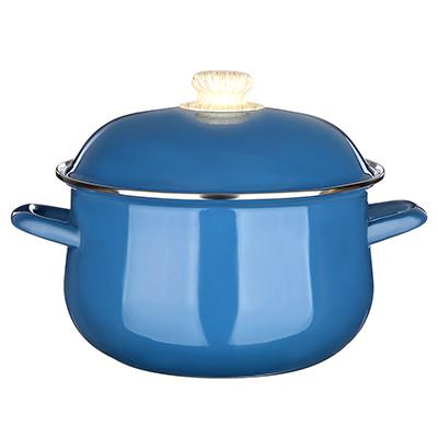 Кастрюля 3,6 л VETTA Глянец, эмалированная, синий - 1