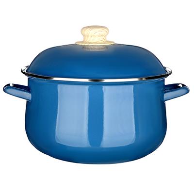 Кастрюля 5,0 л VETTA Глянец, эмалированная, синий - 1
