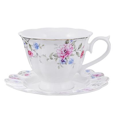 Чайный сервиз 2 предмета MILLIMI Азалия 220мл, костяной фарфор - 1